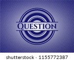 question with denim texture | Shutterstock .eps vector #1155772387