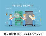 phone repair concept... | Shutterstock . vector #1155774334