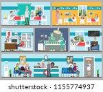 hospital rooms set. doctor's...   Shutterstock . vector #1155774937