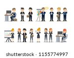 business people at the office... | Shutterstock . vector #1155774997