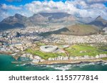 aerial of the city of cape town ... | Shutterstock . vector #1155777814