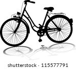vector silhouette of  bicycle... | Shutterstock .eps vector #115577791