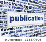 publication poster design.... | Shutterstock . vector #115577905