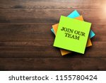 join our team  the phrase is... | Shutterstock . vector #1155780424