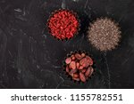 various superfoods in small... | Shutterstock . vector #1155782551