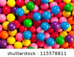 An Variety Of Colorful Gumballs.