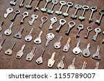 collection of a variety of old... | Shutterstock . vector #1155789007