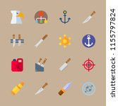 military vector icons set.... | Shutterstock .eps vector #1155797824