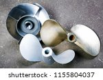 boat propellers speed boat made ... | Shutterstock . vector #1155804037