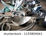 boat propellers speed boat made ... | Shutterstock . vector #1155804061