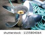 boat propeller speed boat made... | Shutterstock . vector #1155804064