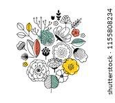summer flower bouquet... | Shutterstock .eps vector #1155808234