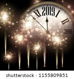 shiny 2019 new year background... | Shutterstock .eps vector #1155809851