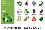filled outline icon pack for... | Shutterstock .eps vector #1155813334