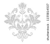 damask graphic ornament. floral ... | Shutterstock .eps vector #1155814537
