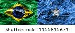 brazil vs somalia smoke flags... | Shutterstock . vector #1155815671