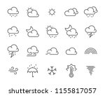 set of weather icon such as... | Shutterstock .eps vector #1155817057