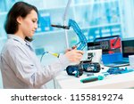 young woman in cnc and robotics ... | Shutterstock . vector #1155819274
