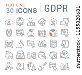 set of vector line icons of... | Shutterstock .eps vector #1155820681
