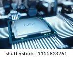 circuit board. technology... | Shutterstock . vector #1155823261