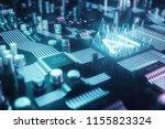 3d illustration abstract... | Shutterstock . vector #1155823324