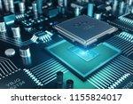 circuit board. technology... | Shutterstock . vector #1155824017
