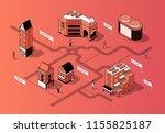 vector 3d isometric city center.... | Shutterstock .eps vector #1155825187