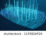 3d illustration fingerprint... | Shutterstock . vector #1155826924