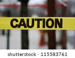 Caution Sign Tape Concept Of...