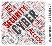 vector conceptual cyber... | Shutterstock .eps vector #1155838624