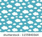 cute clouds pattern. endless...   Shutterstock .eps vector #1155840364