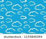 cute clouds pattern. endless...   Shutterstock .eps vector #1155840394