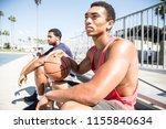 basketball player making a dunk ... | Shutterstock . vector #1155840634