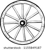 old wooden wheel | Shutterstock .eps vector #1155849187