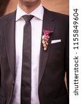 groom in a jacket. the morning...   Shutterstock . vector #1155849604