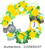 the frame that is made with... | Shutterstock .eps vector #1155850147