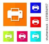 vector design of printer flat... | Shutterstock .eps vector #1155856957