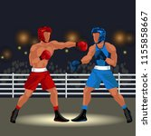 boxing match in ring flat... | Shutterstock .eps vector #1155858667