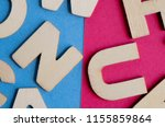 words have power word cube on... | Shutterstock . vector #1155859864