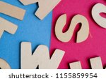 words have power word cube on... | Shutterstock . vector #1155859954