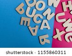 words have power word cube on... | Shutterstock . vector #1155860311