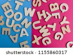 words have power word cube on... | Shutterstock . vector #1155860317