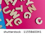 words have power word cube on... | Shutterstock . vector #1155860341
