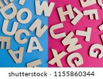 words have power word cube on... | Shutterstock . vector #1155860344