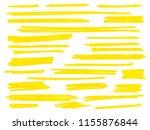yellow highlight marker lines... | Shutterstock .eps vector #1155876844