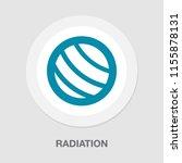 radio active icon  radiation... | Shutterstock .eps vector #1155878131