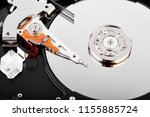 hard drive isolated on white... | Shutterstock . vector #1155885724