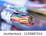 telecommunication multicolored... | Shutterstock . vector #1155887314