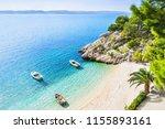 beautiful beach near brela town ... | Shutterstock . vector #1155893161