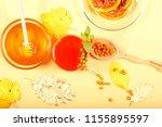 tea from sea buckthorn honey... | Shutterstock . vector #1155895597